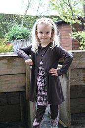 Abacadabra patroon 140 jurk, onderjurk en legging