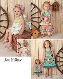 Simplicity - 1472  patroon Kinderrompertje, jurkje, top, broek en poppenjurkje