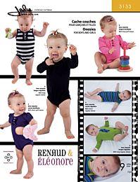 Jalie 3133 rompertjes voor baby's en peuters
