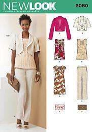 New Look 6080 jasje, top, broek, jurk en clutch