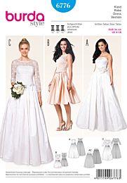 Burda - 6776 trouwjurk