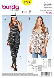 Burda - 6789 broek, top, blouse
