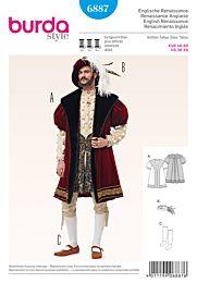 Burda - 2372 renaissance kostuum