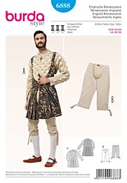Burda - 6888renaissance kostuum