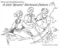 "Sense and Sensibility - 1909 ""Beatrix"" shirtwaist pattern"