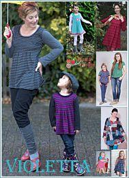 MaMu Design Violetta shirt, tuniek en jurk