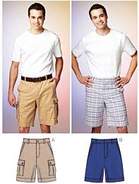 KwikSew 3884 herenbermuda, korte broek