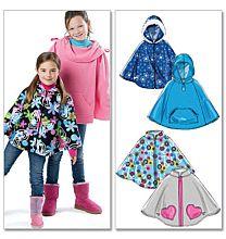 McCalls 6431 poncho voor kinderen