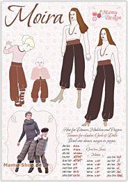 Mamu Design Moira (pof)broek voor dames, kinderen, baby's en poppen