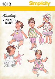 Simplicity-1813 Rompertje, jurkje, top, broekje en hoed
