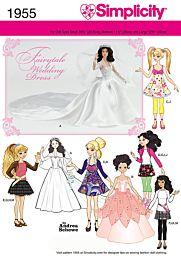 Simplicity 1955 Hippe poppenkleertjes, inclusief de bruidsjurk van Kate Middleton