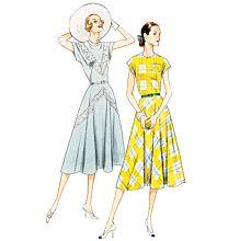 Vogue 8811 vintage jurk uit 1940