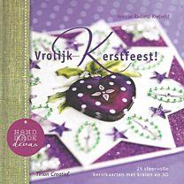 Vrolijk kerstfeest! 25 sfeervolle kerstkaarten met kralen en 3D. Uit de serie Handmade Divas.  ISBN 9789043915861