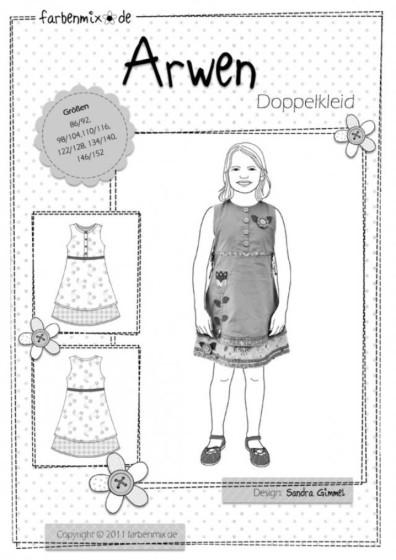 Farbenmix ARWEN mouwloze jurk met dubbele rok