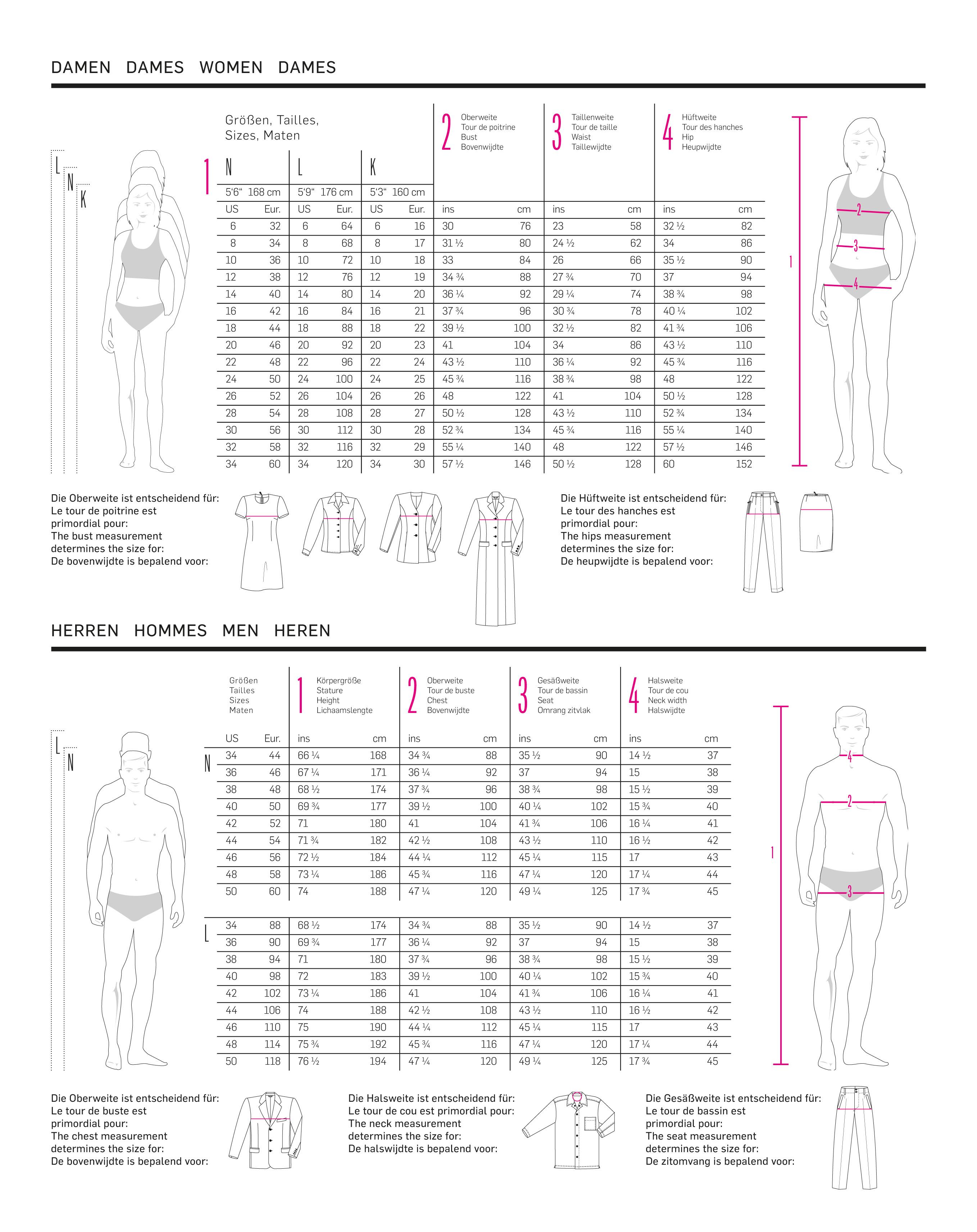 Maattabel Kinderkleding.Maattabellen Burda Naaipatronen Nl Zelfmaakmode Patroon Online