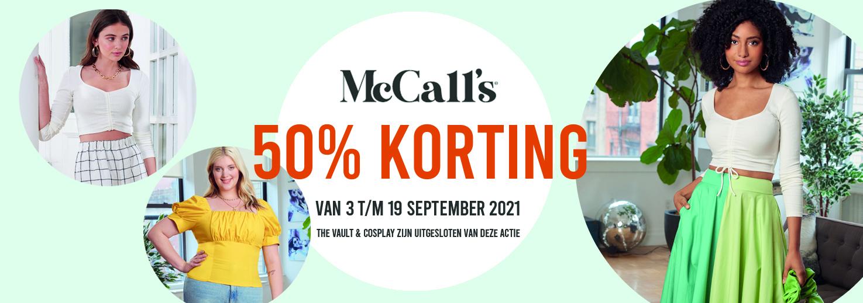 50% korting op McCall's naaipatronen