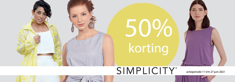 Simplicity 50% kortingsactie